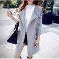 2017 Nova Moda Primavera Outono Mulheres Magras Trench Coat Longo Outwear Plus Size Casaco Fino Trench Coat para As Mulheres Cardigan B329