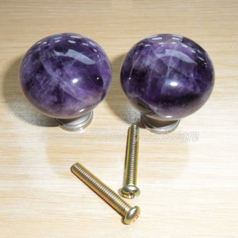 Delightful 30mm Amethyst Dresser Knob,Purple Crystal Cabinet Door Knobs Drawer  Handles,Top Sale Gemstone Home Furniture Hardware,Cute Items In Cabinet  Pulls From Home ...