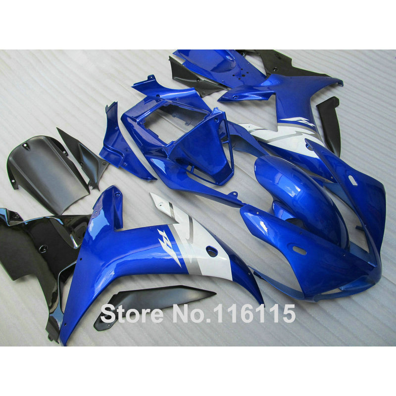 Fairing kit for YAMAHA R1 2002 2003 black white blue fairings Injection molding YZF R1 02 03 full set body kits YZ22 free shipping blue white black aftermarket oem fitment kits for yamaha r1 2002