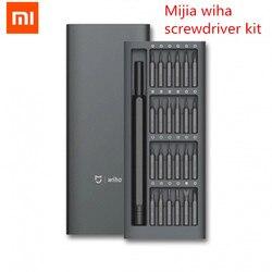 2018 Xiaomi Mijia Wiha Daily Use Screwdriver Kit 24 Precision Magnetic Bits Alluminum Box Screw Driver xiaomi smart home Kit