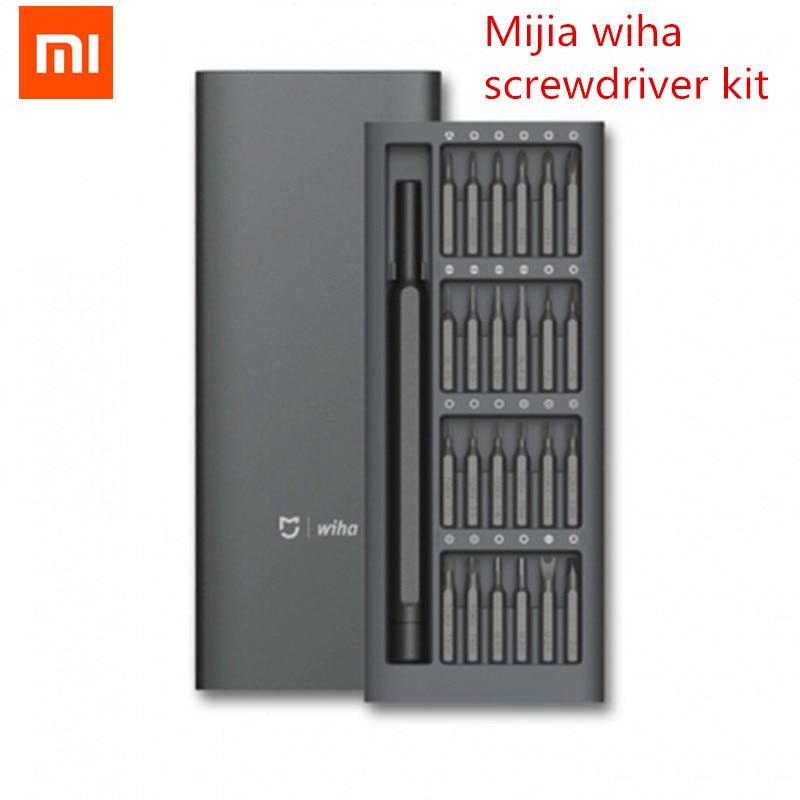 2018 xiaomi Mijia Wiha uso diario destornillador Kit 24 precisión Bits magnéticos de aluminio caja de tornillo conductor xiaomi inteligente Kit de casa