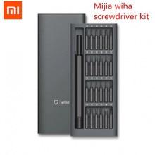Xiaomi Mijia Wiha Kit de tournevis à usage quotidien 24 embouts magnétiques de précision boîtier en aluminium tournevis xiaomi Kit de maison intelligente