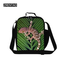 ZRENTAO high quality Kids cooler bags polyester lunch bagsThermal Travel Picnic Food container crossbody bag