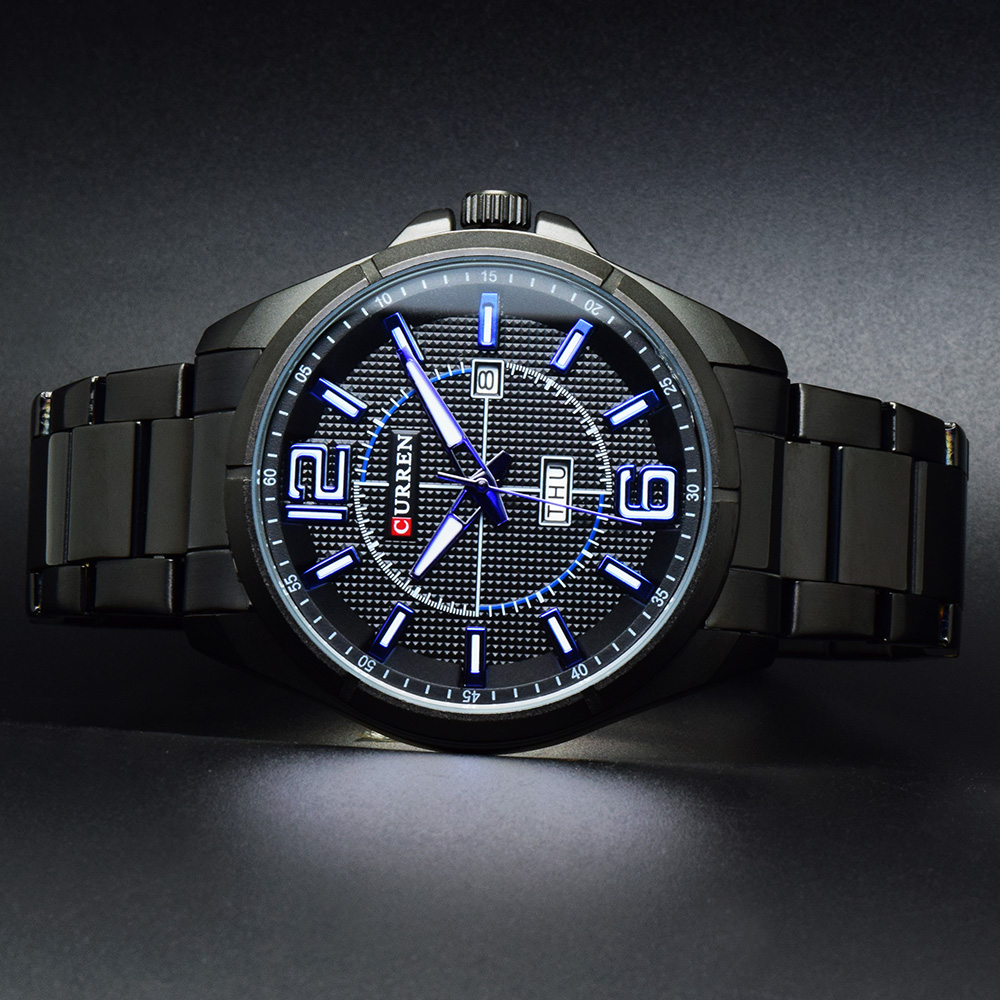 цена на Relogio Masculino CURREN Watches Men Luxury Brand Stainless Steel Male Clock Man Analog Quartz Sport Military Men's Wrist Watch