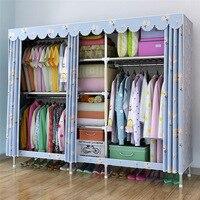 Большой Тканевый шкаф для одежды подвесной шкаф для хранения Тканевый шкаф мм 25 мм стальная труба металлический арматурный шкаф