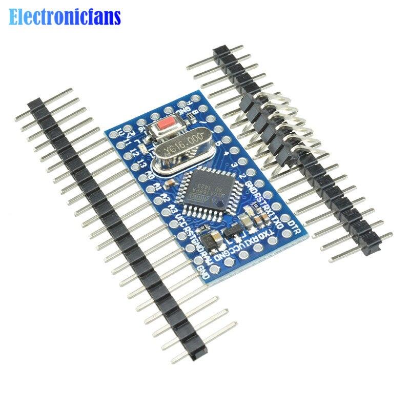 1Pcs Pro Mini Atmega168 Mini ATMEGA168 Crystal Oscillator Board Module 16M 5V For Arduino Nano Replace Atmega328 Hot Sale