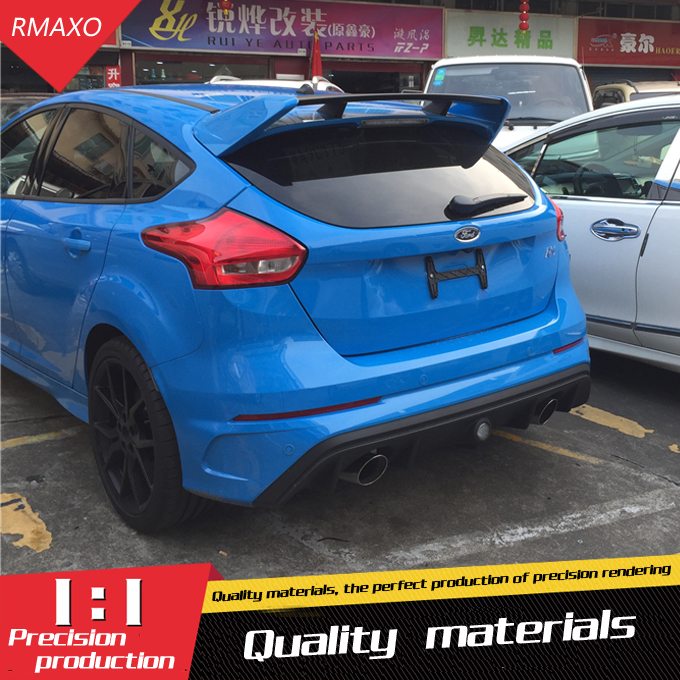 For Ford Focus RS Spoiler High Quality ABS Material Car Rear Wing Primer Color Rear Spoiler
