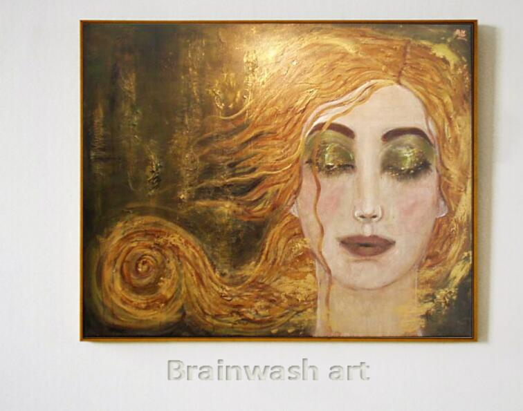 Us 198 0 K 34 Portrait Of Woman Modern Art Golden Tears Anne Marie Zilbermanoil Painting Replicas High Quality Hand Painted In Painting