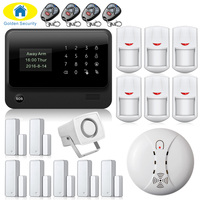 IOS ANDROID APP 2 4G WiFi GSM Touch Keypad Wireless GSM Autodial DIY Alarm Security System