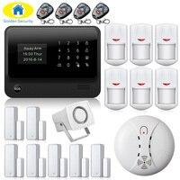 Wifi Alarm System 2.4G WiFi GSM Touch Keypad Wireless GSM Autodial DIY Alarm Security System Burglar Home Security Alarm System
