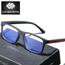 UNIEOWFA Photochromic Prescription Glasses Men Optical Blue