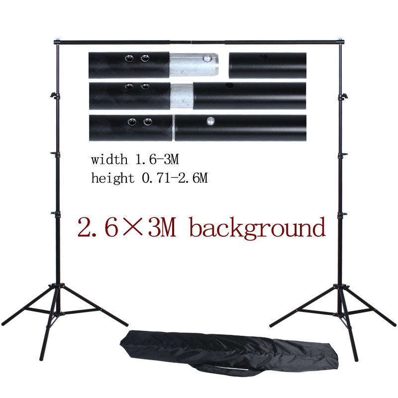 Background Frame System Stands Studio with Carry bag 2.6*3M/8.5ft*10ft Photo Studio Aluminum Backdrop Support 300cm 200cm about 10ft 6 5ft fundo coco coastal skyline3d baby photography backdrop background lk 1896