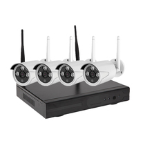 New 4ch 720P Night Vision Wireless IP Camera Kit Set Security CCTV Camera System Video Surveillance Kits P2P Wifi NVR Kit