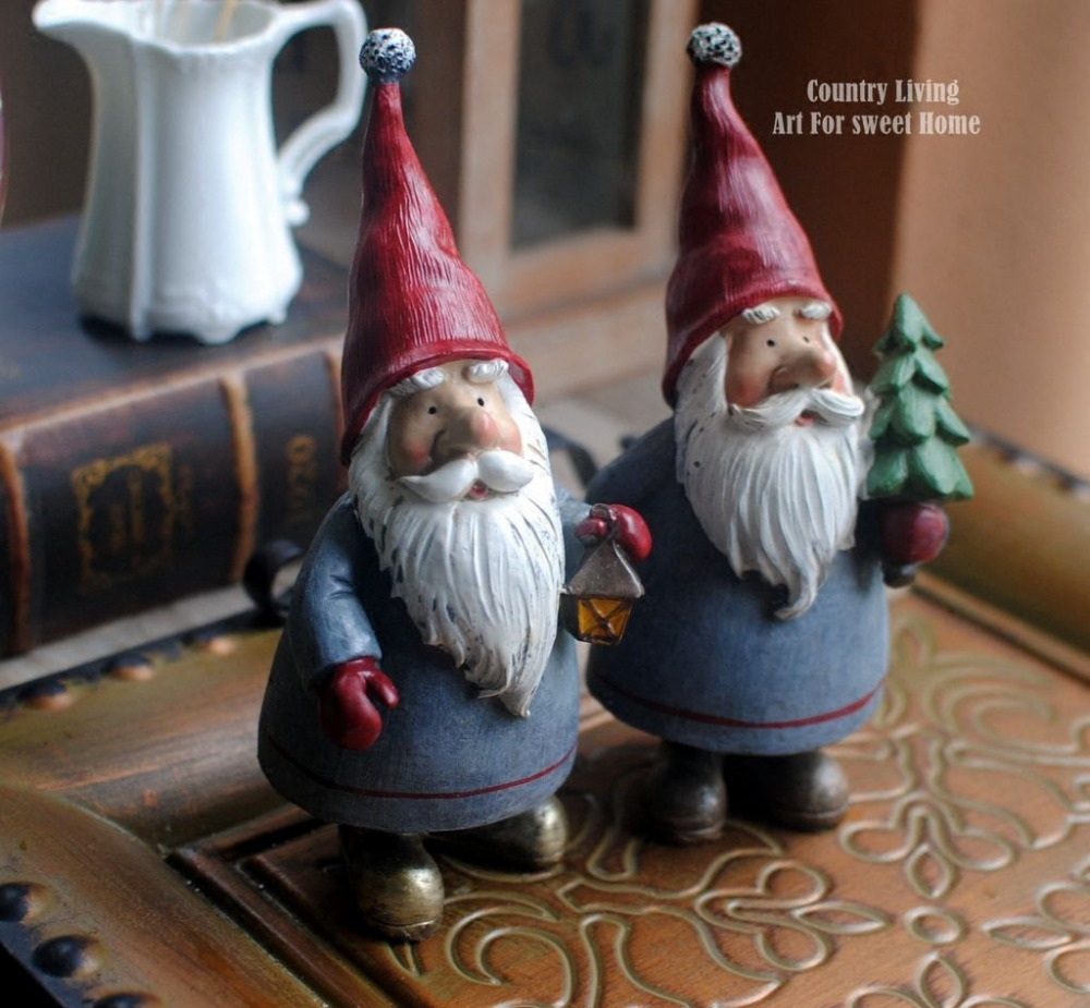 1pieces 20cm elf old man ornament for fairy garden home decoration hand made miniature resin crafts wedding decor