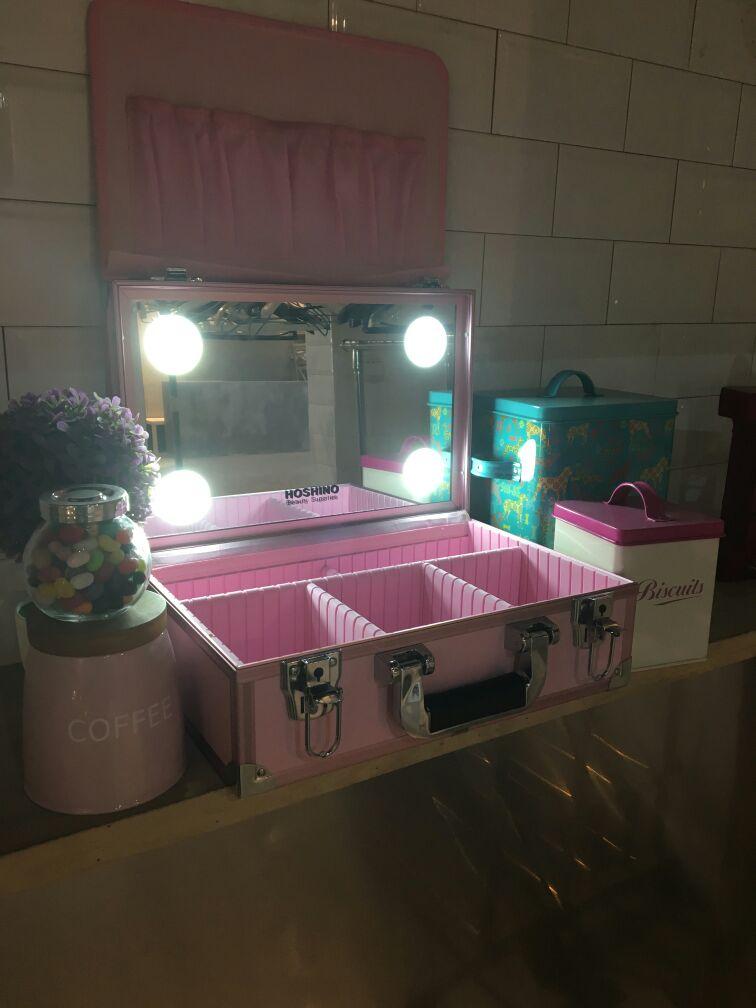 Mini 4 Led Chargable Lighted Tilt Mirror Makeup Artist