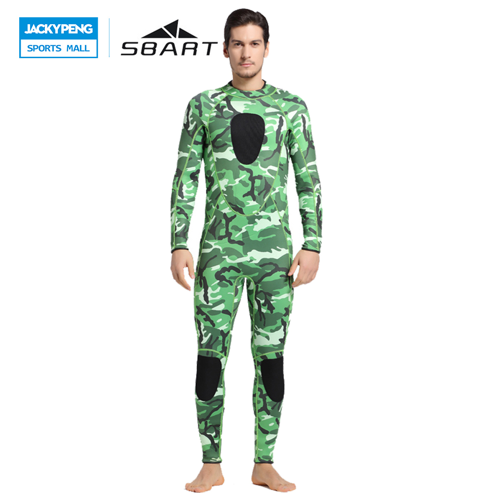 SBART 2017 3mm Neoprene Men Scuba Diving Suit Wetsuit Roupa Mergulho Anti-Jellyfish Snorkeling Kite Surfing Spearfishing sbart upf50 rashguard 2 bodyboard 1006