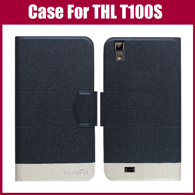 Hot Sale! THL T100S Case New Arrival 5 Colors Fashion Flip Ultra-thin Leather Protective Cover For THL T100S Case