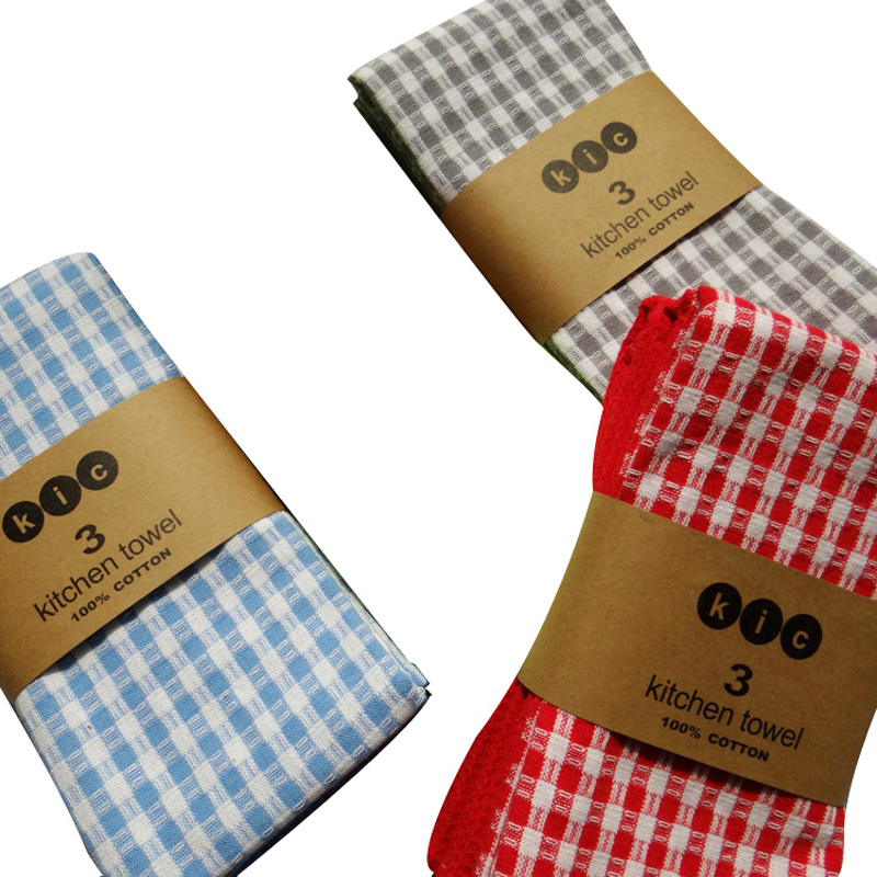 2017 New 3 Pack 100 Cotton Kitchen Towels Plaid Bar Towel Set Quick Drying Dish Cloths Solid Cleaning In From Home Garden On