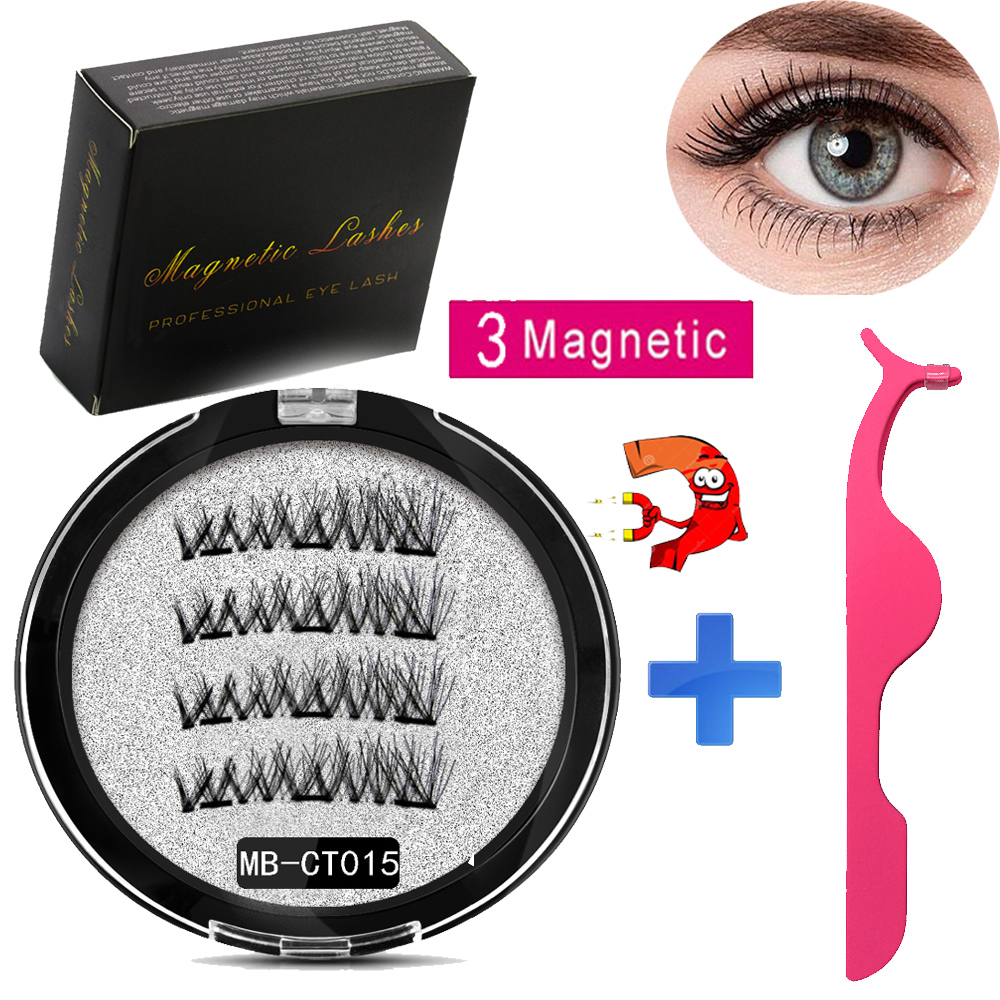 MB Magnetic Eyelashes Set With 3 Magnets Handmade 3D/6D Magnetic Lashes Natural False Eyelashes Magnet Lashe With Gift Box MB-CT