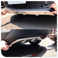 For Toyota C HR 2016 2017 Stainless Steel Front Rear Bumper Skid Protector Guard Accessories Car