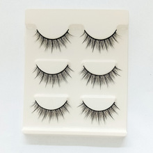 KESMALL 3 Pack False Eyelashes Handmade Natural  Makeup Make up Beauty Tools CL0096