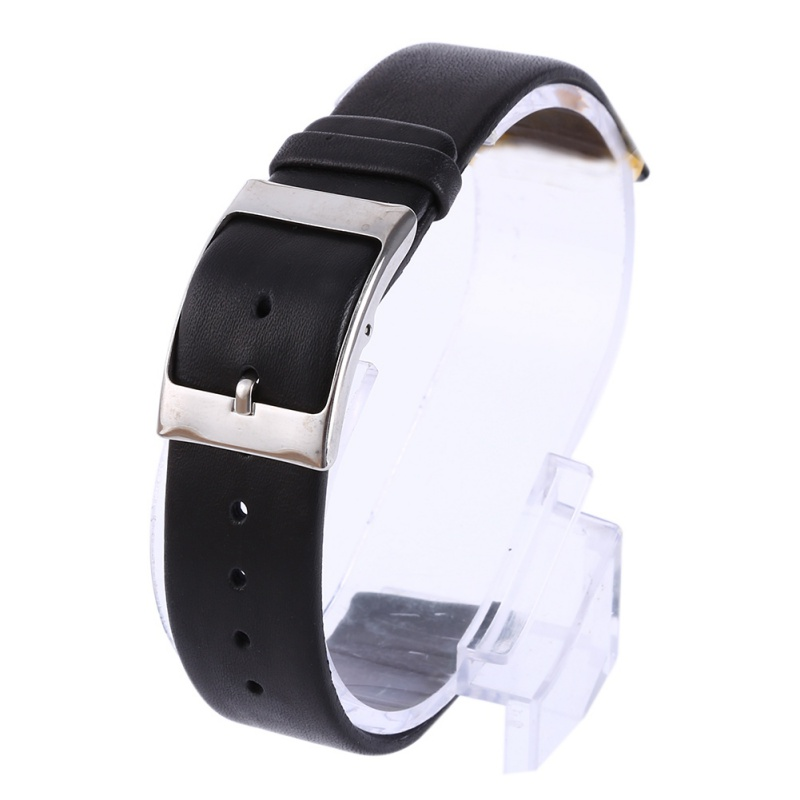 Straps Genuine Matte Leather Watch Band Modern Style Strap Thin Buckle Watchband For Men ...