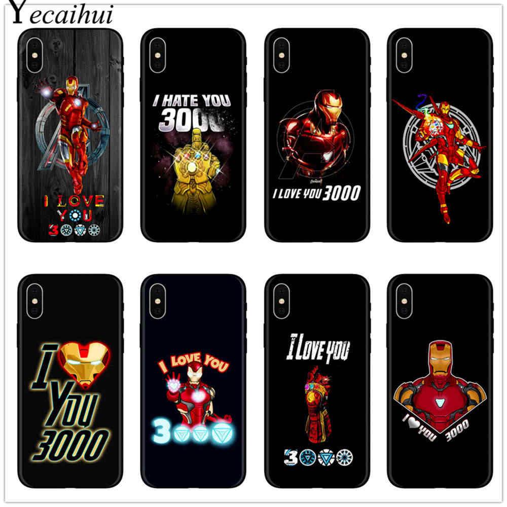 EU Te amo 3000 Homem De Ferro Marvel Avengers Endgame Macio TPU Tampa Da Caixa Do Telefone para o iphone X SE 5 5S 6 6 S Plus 7 8 Plus MAX XR XS XS