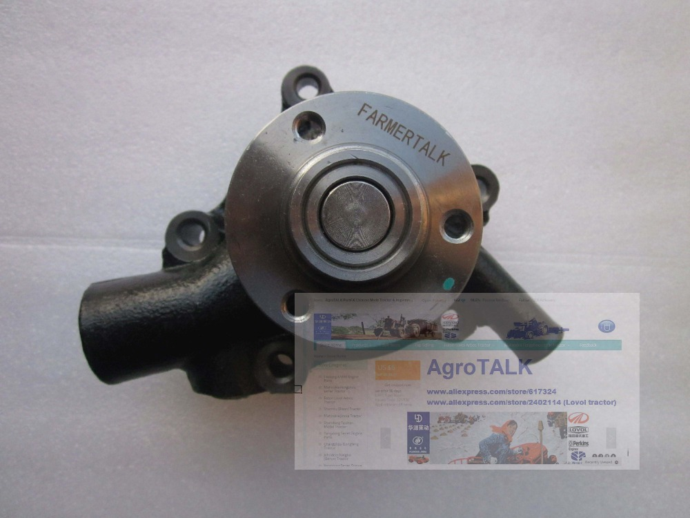 Kubota engine parts, the water pump for tractor or forklift use, reference # 119356 115858 kubota water pump with gasket reference 15321 73032