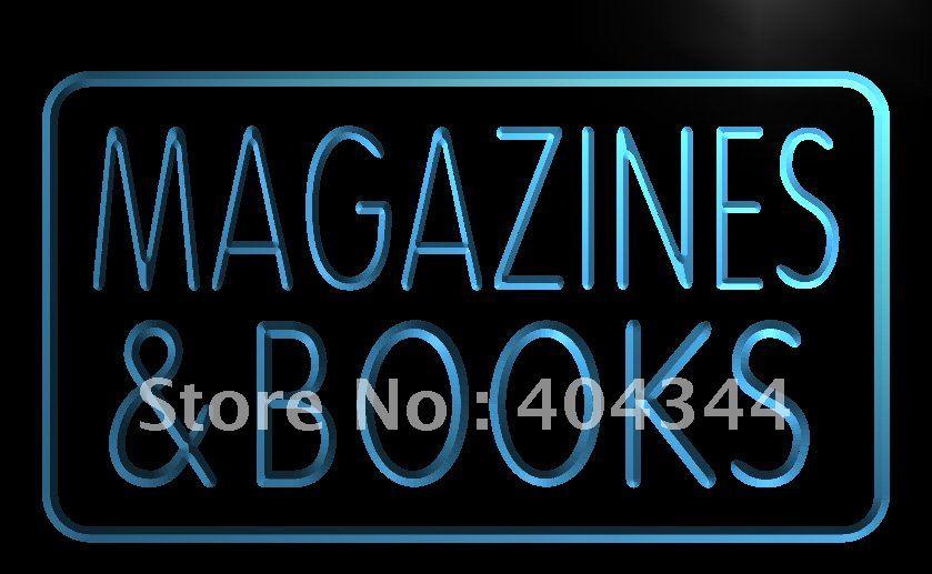 Lb832 Magazines Books Display Led Neon Light Sign Home Decor Crafts