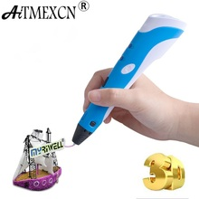 Aitmexcn 3D Printer Pen with Filament 1.75mm ABS/PLA(5M*20=100m) Plastic Rubber Material for Kids DIY 3d Printing pen Filament
