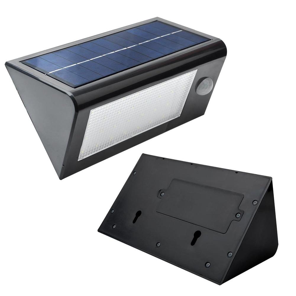 ФОТО TSLEEN Solar Light 2pcs IP65 waterproof ABS body solar powered 32 led lamp motion sensor Home Garage Building wall pathway light