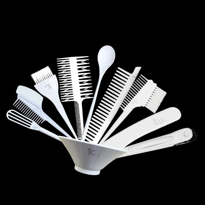 Hairdressing Tools professional Hair care styling tinting Salon Barbershop Brush Set 10pcs Coloring Bowls High Quality