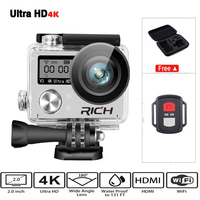 Hot Ultra HD 4K Wifi Action Camera 1080p HD 60fps Diving 30M Waterproof Helmet Sports DV