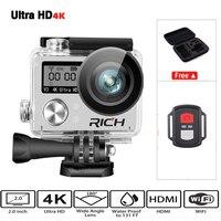 Hot Ultra HD 4 K wifi action camera 1080 p HD 60fps Diving 30 M impermeabile casco protettivo da Sport DV cam go 4 K Pro yi sport estremi kamera