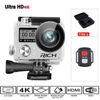 Hot Ultra HD 4K Wifi Action Camera 1080p HD 60fps Diving 30M Waterproof Helmet Sports DV