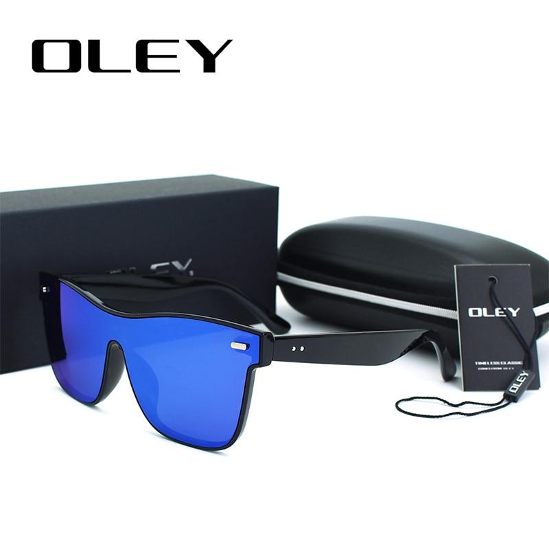 OLEY Marke Vintage stil Sonnenbrille Männer Flache Linse Randlose ...