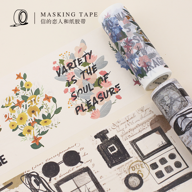 10CM*5M Plants Flowers Cute Dogs Design Masking Tape DIY Scrapbooking Diary Bullet Jornal Deco Gifts Wrapping Washi Tape 10cm 5m korean natural style deco masking tape planet flowers design washi tape diy scrapbooking diary creative stationery