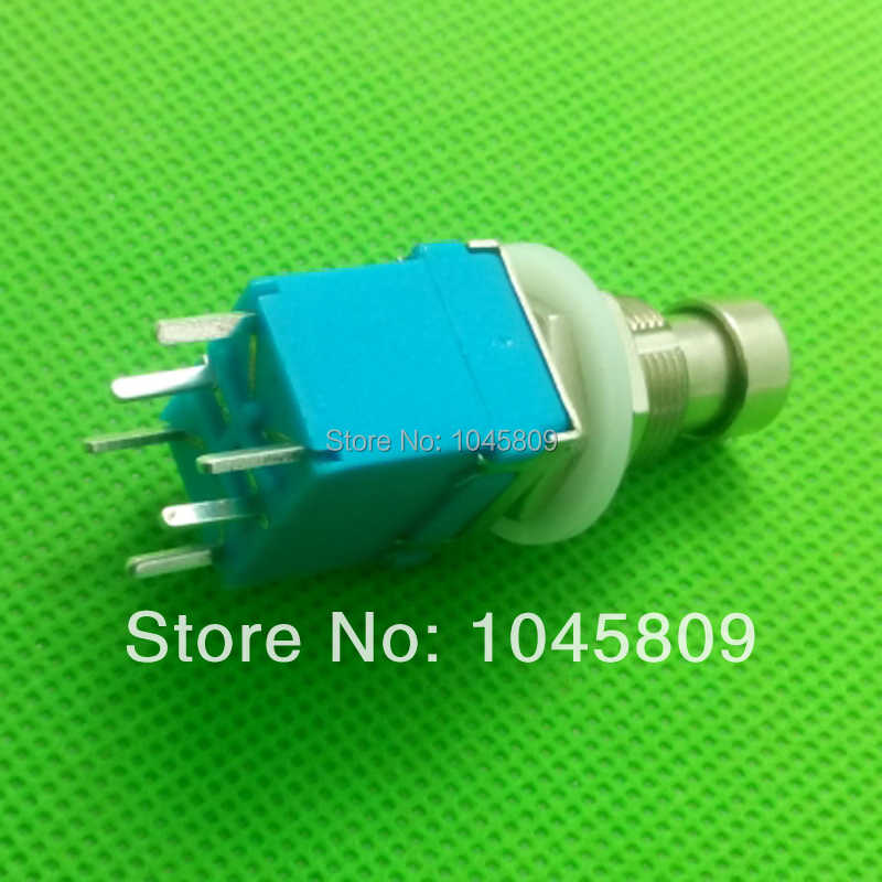 Guitar Switch 2 Positions 6 Terminals DPDT 2PDT Latching ON-ON Mini Toggle Blue