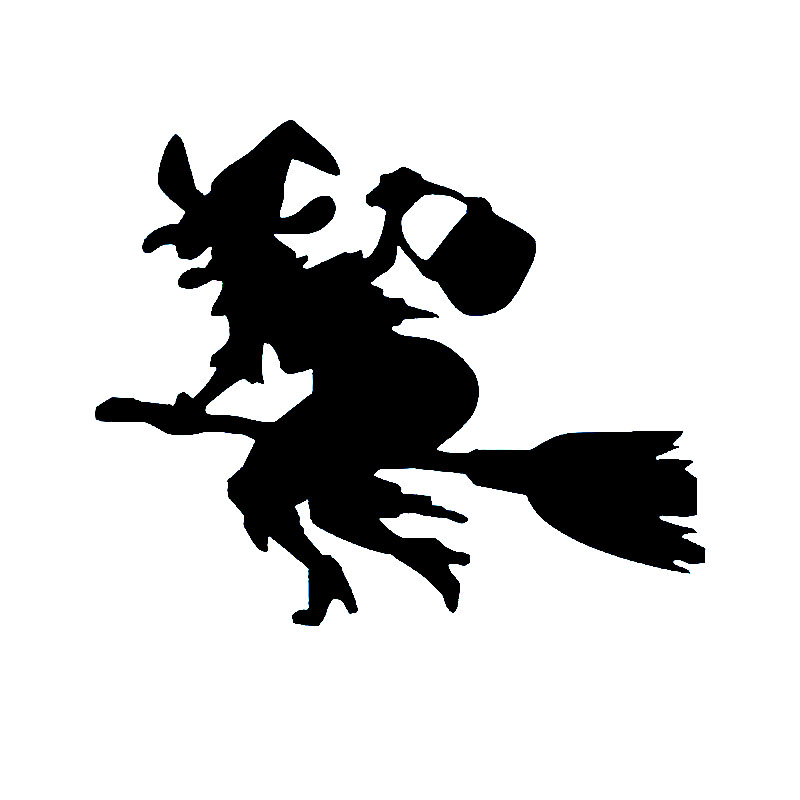 Witch Wall art vinyl decal sticker Women are Angels Broomstick