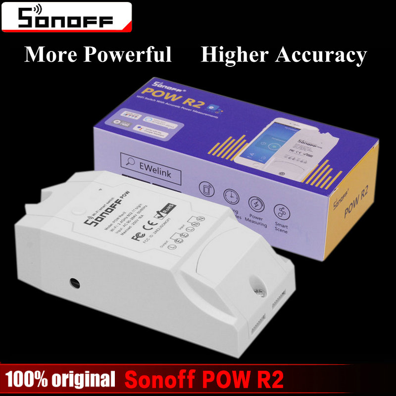 Sonoff Pow R2 Smart Wifi Switch Controller Mit Echtzeit Stromverbrauch Messung 16A/3500 Watt Smart-home-gerät über Android