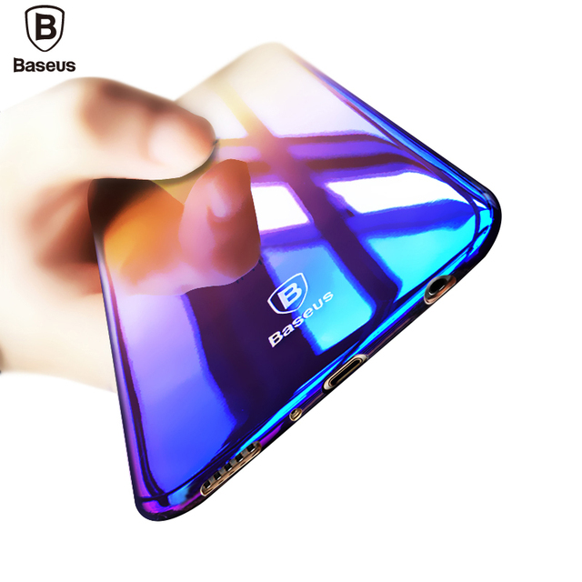 hot sale online 9a52d 540f6 US $8.99  Baseus Brand Luxury Case For Samsung Galaxy S8 / S8 Plus Aurora  Gradient Color Transparent Hard PC Cover For Galaxy S8 S 8 Plus-in Phone ...