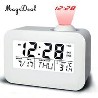 Projection   Clock   LED Digital Table Alarm   Clock   Snooze Bedsides   Clock   with Backlight Temperature Calendar Display for Home Office