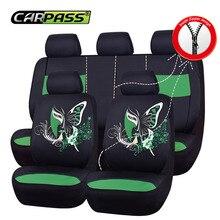 Car-pass сидений автомобиля двойной Композитная кожа сиденья 5 цветов автомобиля Аксессуары для салона универсальное автокресло протектор