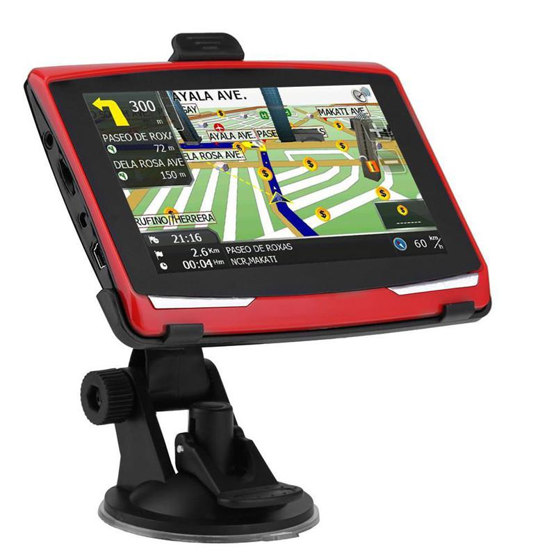 Universel Portable 5 pouces voiture GPS Navigation Sat Nav 8G CPU800M Wince6.0 + FM transmetteur + multi-langues voiture boussole