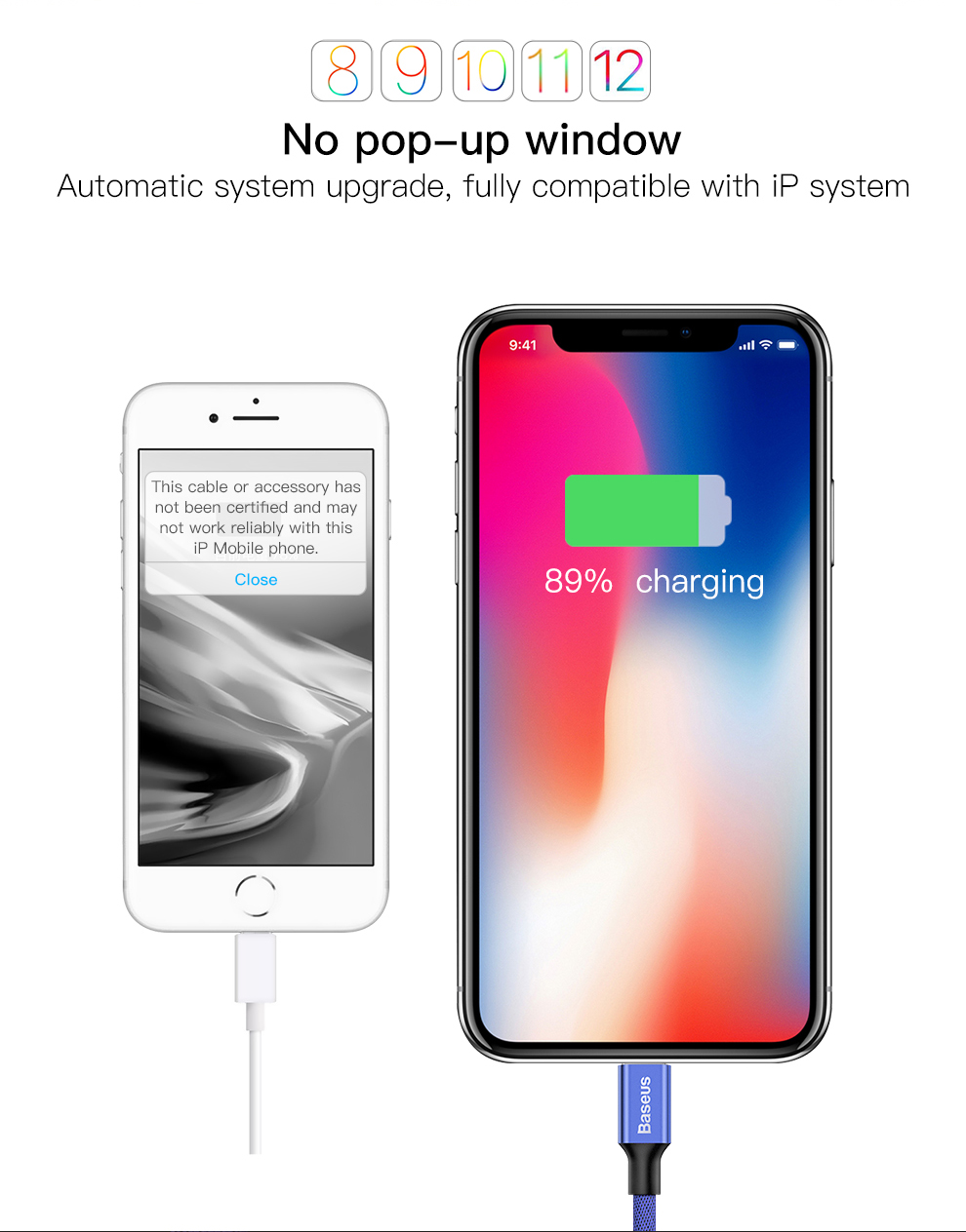 Baseus USB Cable For iPhone Xs Max Xr X 11 8 7 6 6s 5s iPad Fast Charging Charger Mobile Phone Cable For iPhone Wire Cord 3m 5m 3
