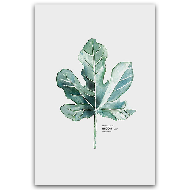 HTB1svVWXQCy2eVjSZPfq6zdgpXaX Simple Watercolor Vase Green Plant Art Poster Wall Art Print Canvas Painting Picture Modern Home Living Room Decoration Custom