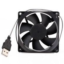 5V 80mm ordinateur ventilateur de refroidissement Portable USB refroidisseur petit PC CPU refroidissement ordinateur composants accessoires de refroidissement 80*80*10mm