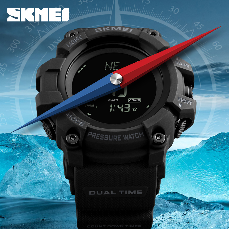 Digital Watches Men's Watches Skmei Brand Mens Sports Watches Hours Pedometer Calories Digital Watch Altimeter Barometer Compass Thermometer Weather Men Watch