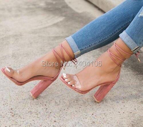 Tobillo Sandales Verano Las 2017 Zapatos Tacón Claro De Envío Femmes Correa Alto Sandalias Gruesos Mujeres Gratis qSwCwPp