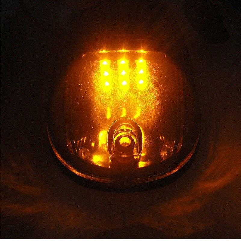 Luz Marcador Folga Quente Âmbar Luz Para
